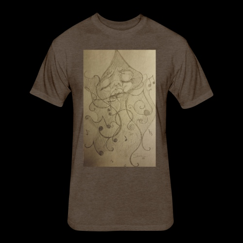Smoking Music Collection - Fitted Cotton/Poly T-Shirt by Next Level