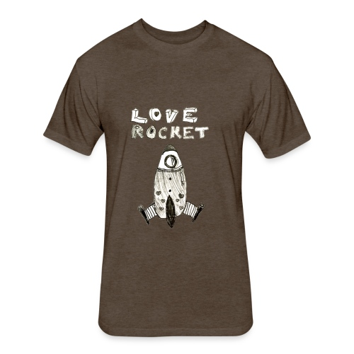 Love Rocket - Fitted Cotton/Poly T-Shirt by Next Level
