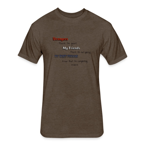 what they think - Fitted Cotton/Poly T-Shirt by Next Level
