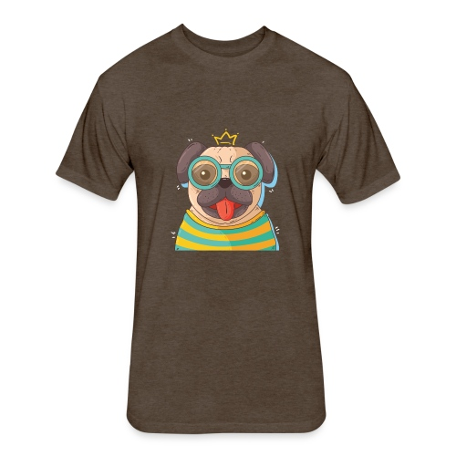 Dog in glass - Fitted Cotton/Poly T-Shirt by Next Level