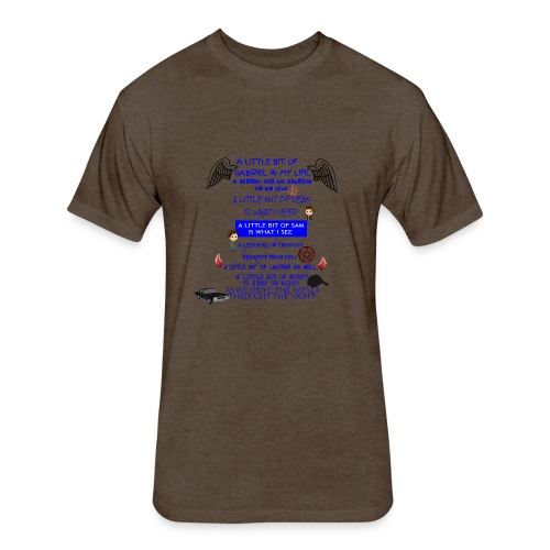Supernatural song spoof shirt - Fitted Cotton/Poly T-Shirt by Next Level