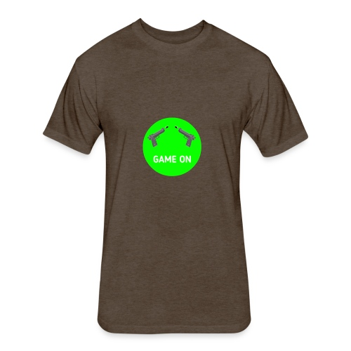 GAME ON - Fitted Cotton/Poly T-Shirt by Next Level