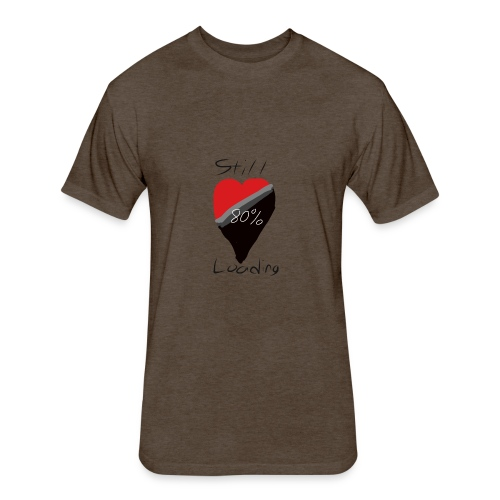 Heart on hold - Fitted Cotton/Poly T-Shirt by Next Level