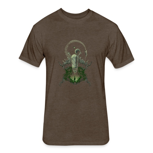 Alien Nightmare - Fitted Cotton/Poly T-Shirt by Next Level