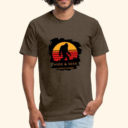 Hide And Seek World Champion T-shirt Bigfoot - Fitted Cotton/Poly T-Shirt by Next Level