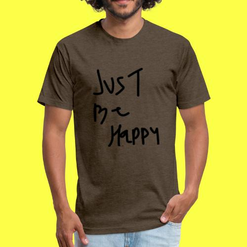 justbehappy - Fitted Cotton/Poly T-Shirt by Next Level