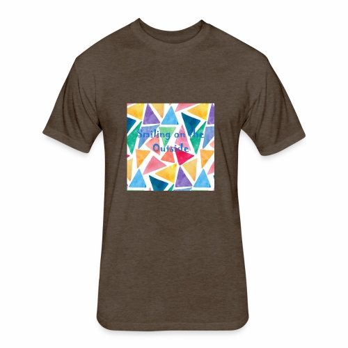 Smiling On The Outside - Fitted Cotton/Poly T-Shirt by Next Level