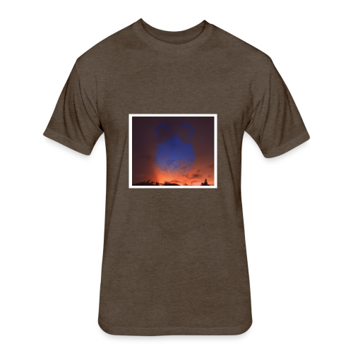 sunset floating buns - Fitted Cotton/Poly T-Shirt by Next Level