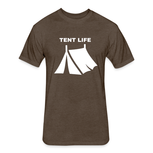 Tent Life - Fitted Cotton/Poly T-Shirt by Next Level