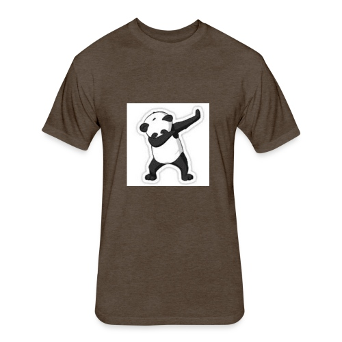dabbing panda - Fitted Cotton/Poly T-Shirt by Next Level