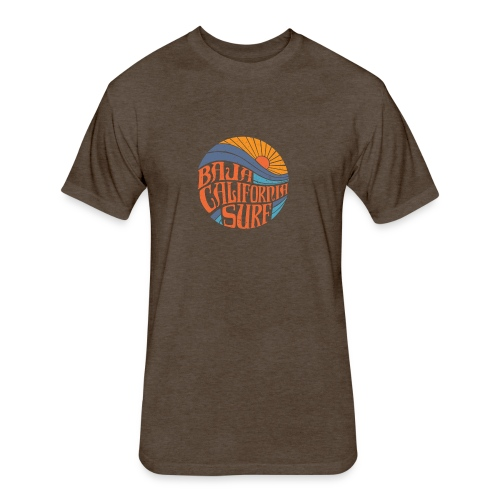 Baja California Surf New - Fitted Cotton/Poly T-Shirt by Next Level