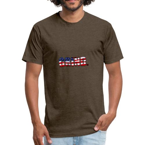 GRIND FLag - Fitted Cotton/Poly T-Shirt by Next Level