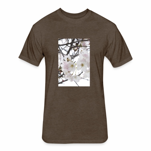 White Blossom - Fitted Cotton/Poly T-Shirt by Next Level