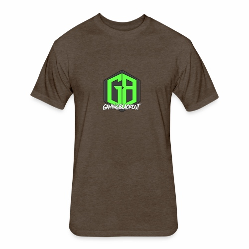 GamingBlackout + Logo - Fitted Cotton/Poly T-Shirt by Next Level