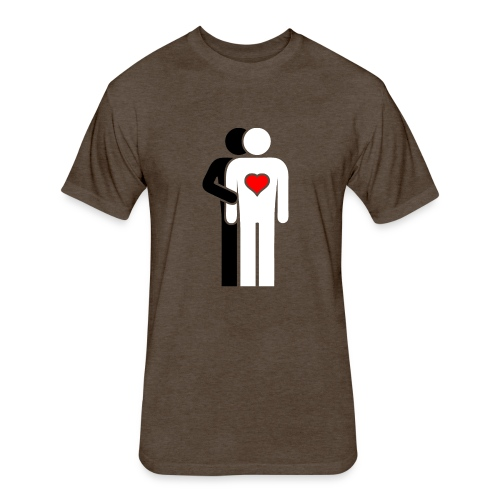 MAN LOVE DIVERSITY HEART No. 001 - Fitted Cotton/Poly T-Shirt by Next Level