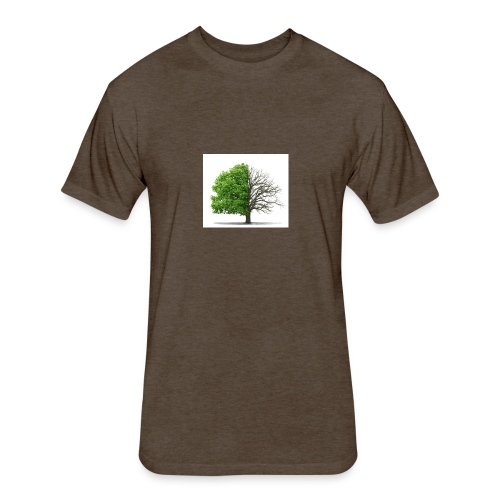 dead tree 1 - Fitted Cotton/Poly T-Shirt by Next Level