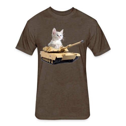 Tank Cat - funny Cat in a rc tank - Fitted Cotton/Poly T-Shirt by Next Level