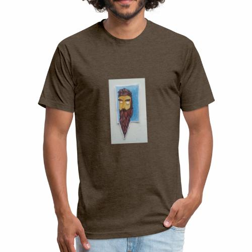 Timber man growing - Fitted Cotton/Poly T-Shirt by Next Level