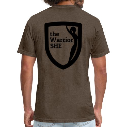 theWarriorSHE logo t-shirt - Fitted Cotton/Poly T-Shirt by Next Level