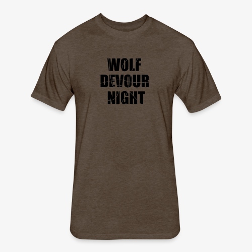 Wolf Devour Night - Fitted Cotton/Poly T-Shirt by Next Level
