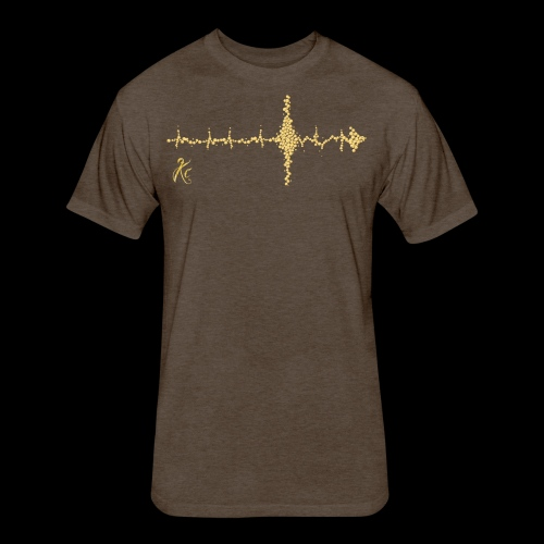 Sound Wave Arrow - Fitted Cotton/Poly T-Shirt by Next Level