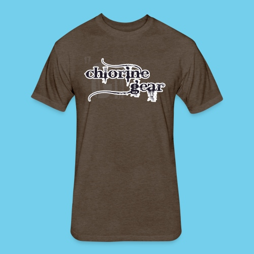 Chlorine Gear Textual stacked Periodic backdrop - Fitted Cotton/Poly T-Shirt by Next Level