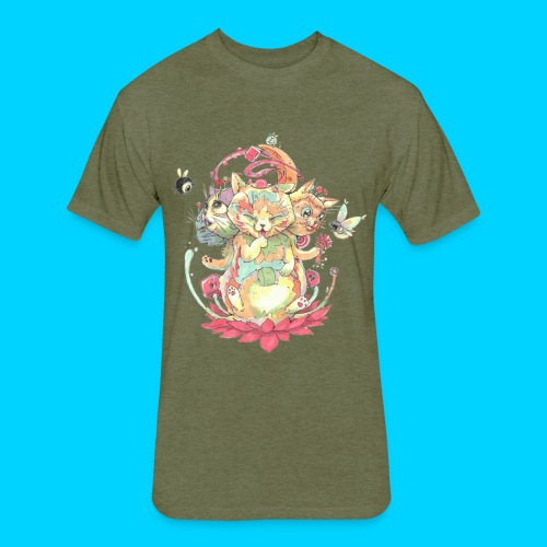 Contraption Brahma Neko - Fitted Cotton/Poly T-Shirt by Next Level