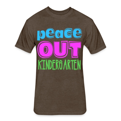 Kreative In Kinder Peace Out - Fitted Cotton/Poly T-Shirt by Next Level
