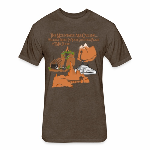 Mountains Are Calling - TMR - Fitted Cotton/Poly T-Shirt by Next Level