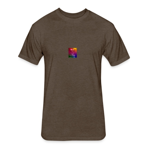 Thanks - Fitted Cotton/Poly T-Shirt by Next Level