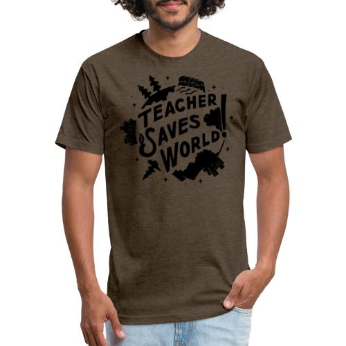 TSW! Retro World Design - Fitted Cotton/Poly T-Shirt by Next Level