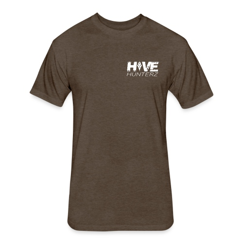 White Hive Hunterz Logo - Fitted Cotton/Poly T-Shirt by Next Level