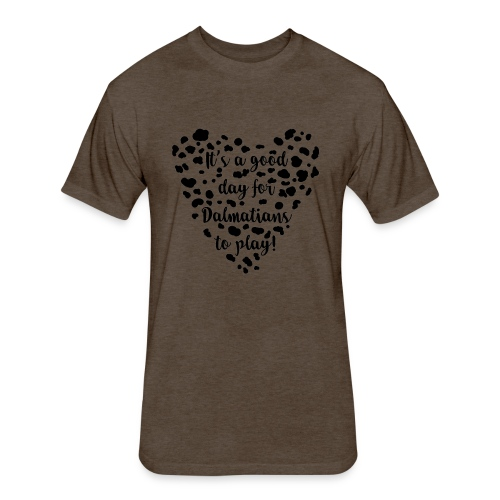 Dalmatians Play - Fitted Cotton/Poly T-Shirt by Next Level