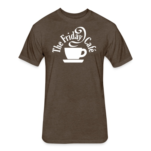 The Friday Cafe logo - Fitted Cotton/Poly T-Shirt by Next Level