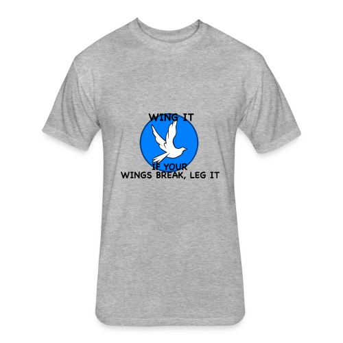 Wing it - Fitted Cotton/Poly T-Shirt by Next Level