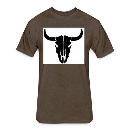 Longhorn skull - Fitted Cotton/Poly T-Shirt by Next Level