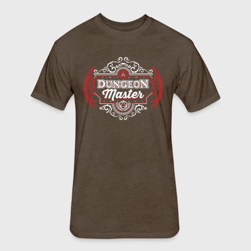 dungeon master filigree fantasy gift d20 shirt - Fitted Cotton/Poly T-Shirt by Next Level