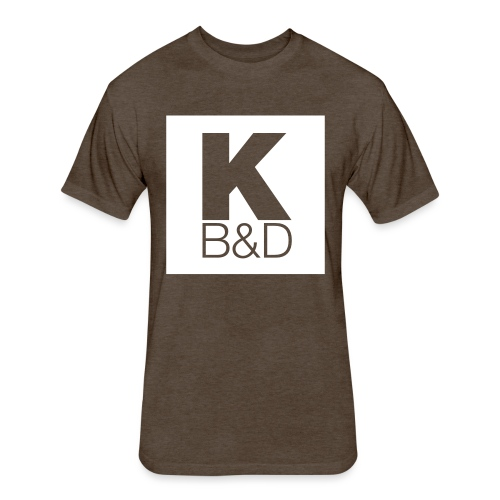 KBD_White - Fitted Cotton/Poly T-Shirt by Next Level