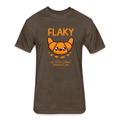Flaky Croissant - Fitted Cotton/Poly T-Shirt by Next Level