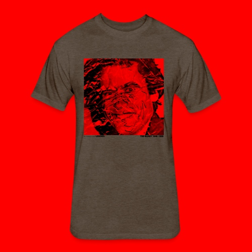 Ted Bundy, portrait of a legend. - Fitted Cotton/Poly T-Shirt by Next Level