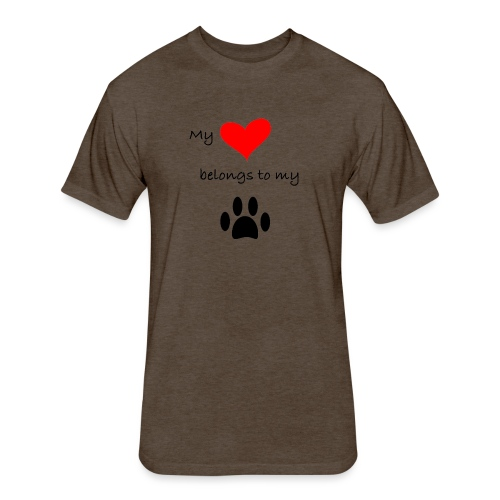 Dog Lovers shirt - My Heart Belongs to my Dog - Fitted Cotton/Poly T-Shirt by Next Level