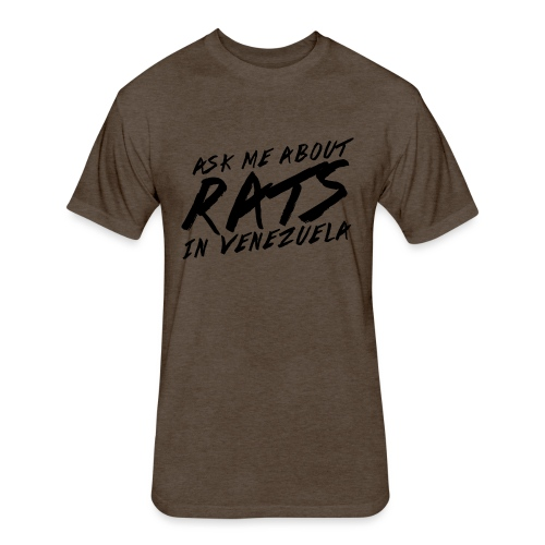 ask me about rats - Fitted Cotton/Poly T-Shirt by Next Level