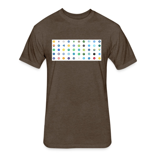 1 Crypto icons - Fitted Cotton/Poly T-Shirt by Next Level
