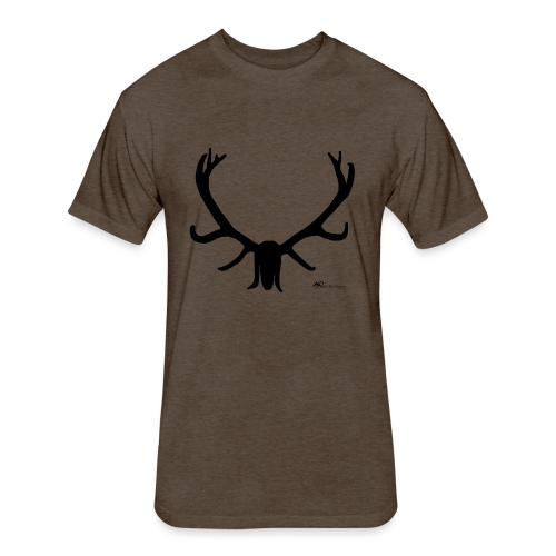 Elk Hunter - Fitted Cotton/Poly T-Shirt by Next Level