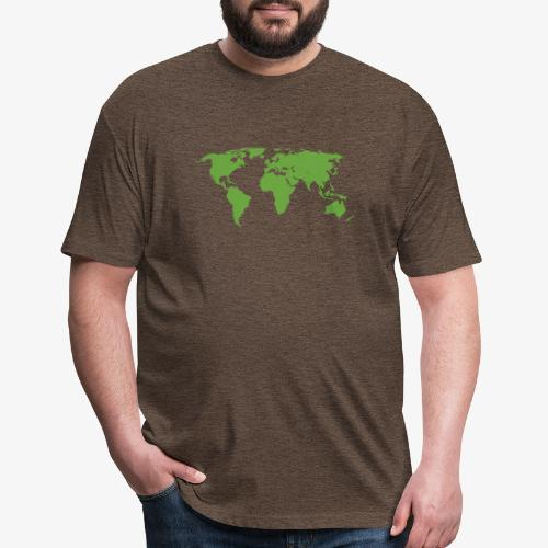 Planet Earth Green - Fitted Cotton/Poly T-Shirt by Next Level