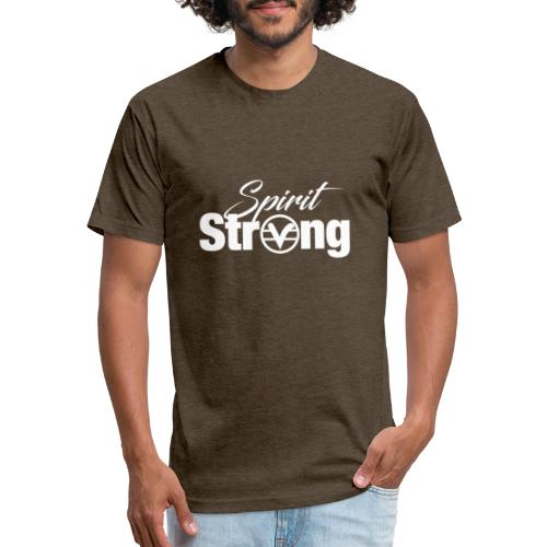 Spirit Strong Tee White (Women V Neck) - Fitted Cotton/Poly T-Shirt by Next Level