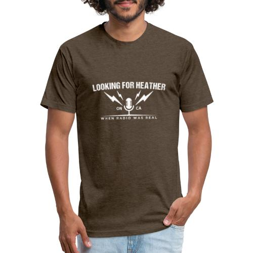 Looking For Heather - When Radio Was Real (White) - Fitted Cotton/Poly T-Shirt by Next Level