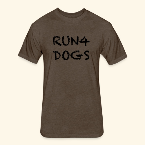 RUN4DOGS NAME - Fitted Cotton/Poly T-Shirt by Next Level