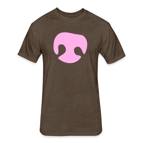 Pink Whimsical Dog Nose - Fitted Cotton/Poly T-Shirt by Next Level