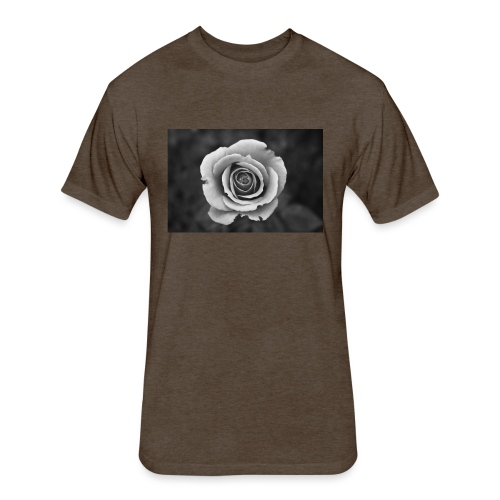 dark rose - Fitted Cotton/Poly T-Shirt by Next Level